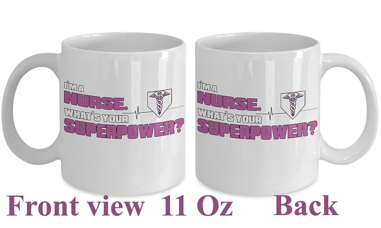 RN授乳卒業ギフト~ナースGraduation Gift Idea /看護婦コーヒーマグ/ Appreciation Personalized /面白い/オス/メンズ/インストラクターホワイトセラミックカップ 11 Oz ホワイト B01LYADBA7   11 Oz