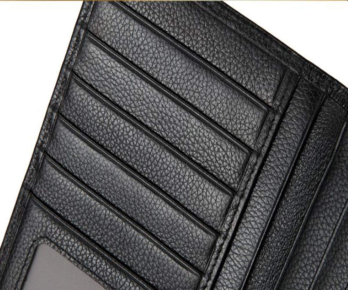 Kalmar RFID Travel Wallet Black Size Suitable for Mens Casual Long Section Youth Business New Leather Wallet cm Stealth Mode Blocking Leather Wallet Color 18.5 2 9.3