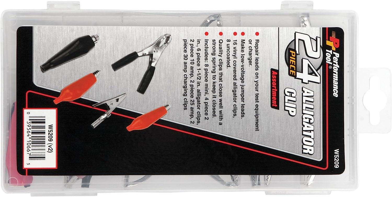 Performance Tool W5209 24pc Alligator Clip Assortment