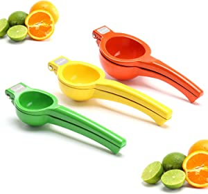 Lemon Squeezer,Lime Squeezer,Orange Squeezer,Hand Juicer Pack of 3, Metal Citrus Squeezer, Dishwasher Safe.