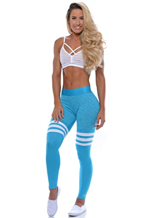60d58ef9d1426 Bombshell Sportswear Thigh-High Leggings - Turquoise at Amazon ...
