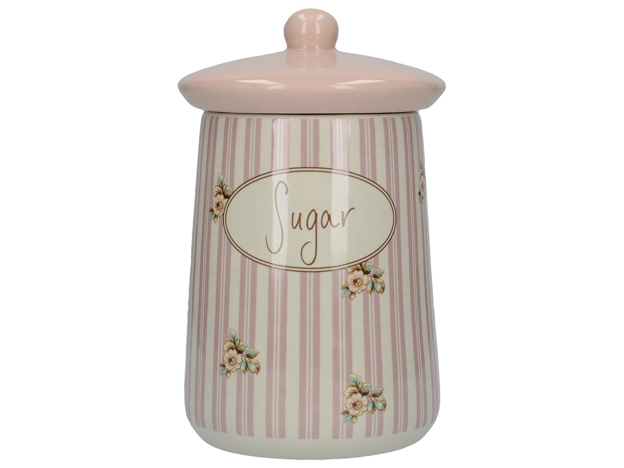 """Katie Alice """"cottage Flower"""" Ceramic Sugar Jar By Creative Tops, 16.2 x 9.5cm"""