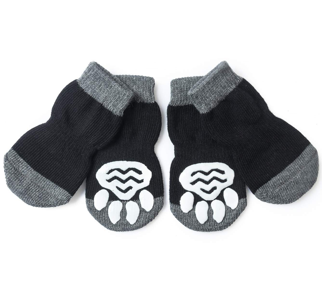 Pet Heroic 8 Sizes Anti-Slip Dog Socks Cat Socks Dog Cat Paw Protector with Rubber Reinforcement, Traction Control for Indoor Wear, Fit Extra Small to Extra Large Dogs Cats by Pet Heroic