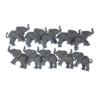 10x Support éléphant Figurine miniblings caoutchouc animaux 6,5cm éléphant