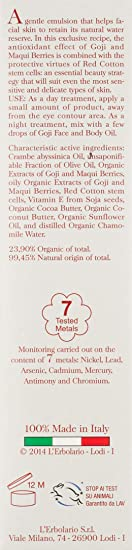 El antioxidante Erbolario Goji Crema de cara y compactas 50 ml ...