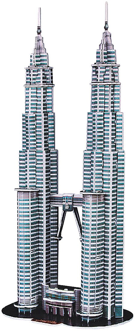 Playtastic Gebäude Puzzles: 3D-Puzzle Petronas Towers