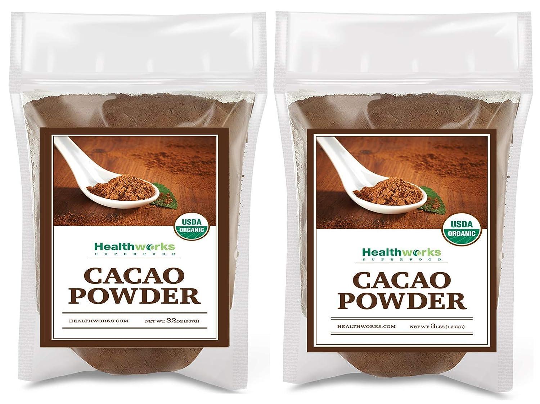 Healthworks Cacao Powder (80 Ounces / 5 Pound) Cocoa Chocolate Substitute   Certified Organic   Sugar-Free, Keto, Vegan & Non-GMO   Peruvian Bean/Nut Origin   Antioxidant Superfood