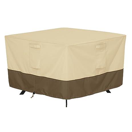Amazon.com : Classic Accessories Veranda Square Patio Table Cover ...