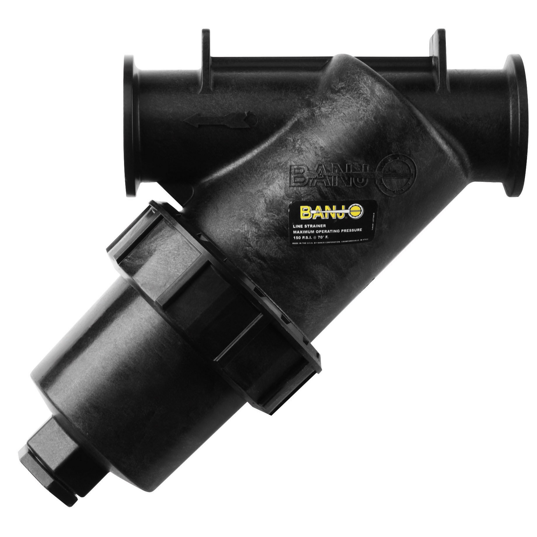 Banjo MLS222-50 2'' Full Port Manifold Y Strainer w/50 Mesh Screen