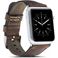 Bouletta Standart Apple Watch Kordon/Kayış, 38-40 mm, Antik Kahve