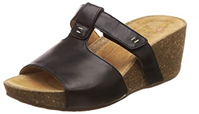 0453f787 Clarks Women's Temira Sand Black Leather Fashion Sandals: Buy Online ...