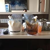 Amazon Com 5 Black Amp White Label Premium Plastic Flasks Liquor Rum Runner Flask Cruise Kit