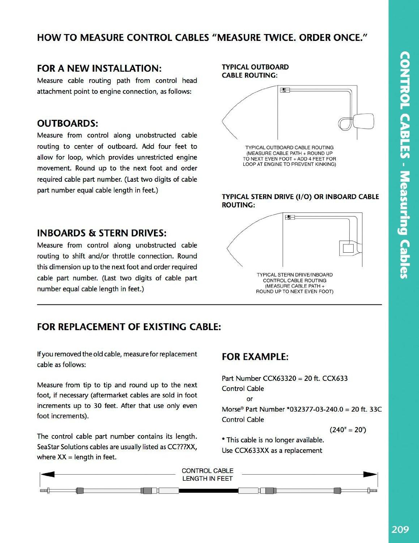 Seastar cc230/X X 3300/Series est/ándar Cable de control con extremos roscados 10/ /32