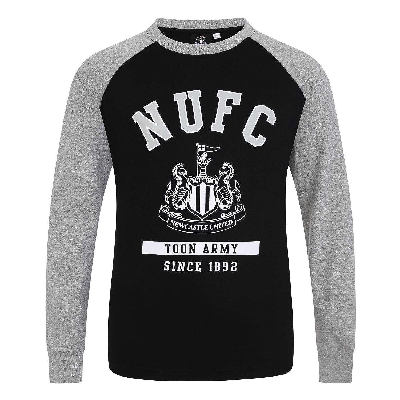 Newcastle United FC - Camiseta Oficial con Mangas raglán y el ...