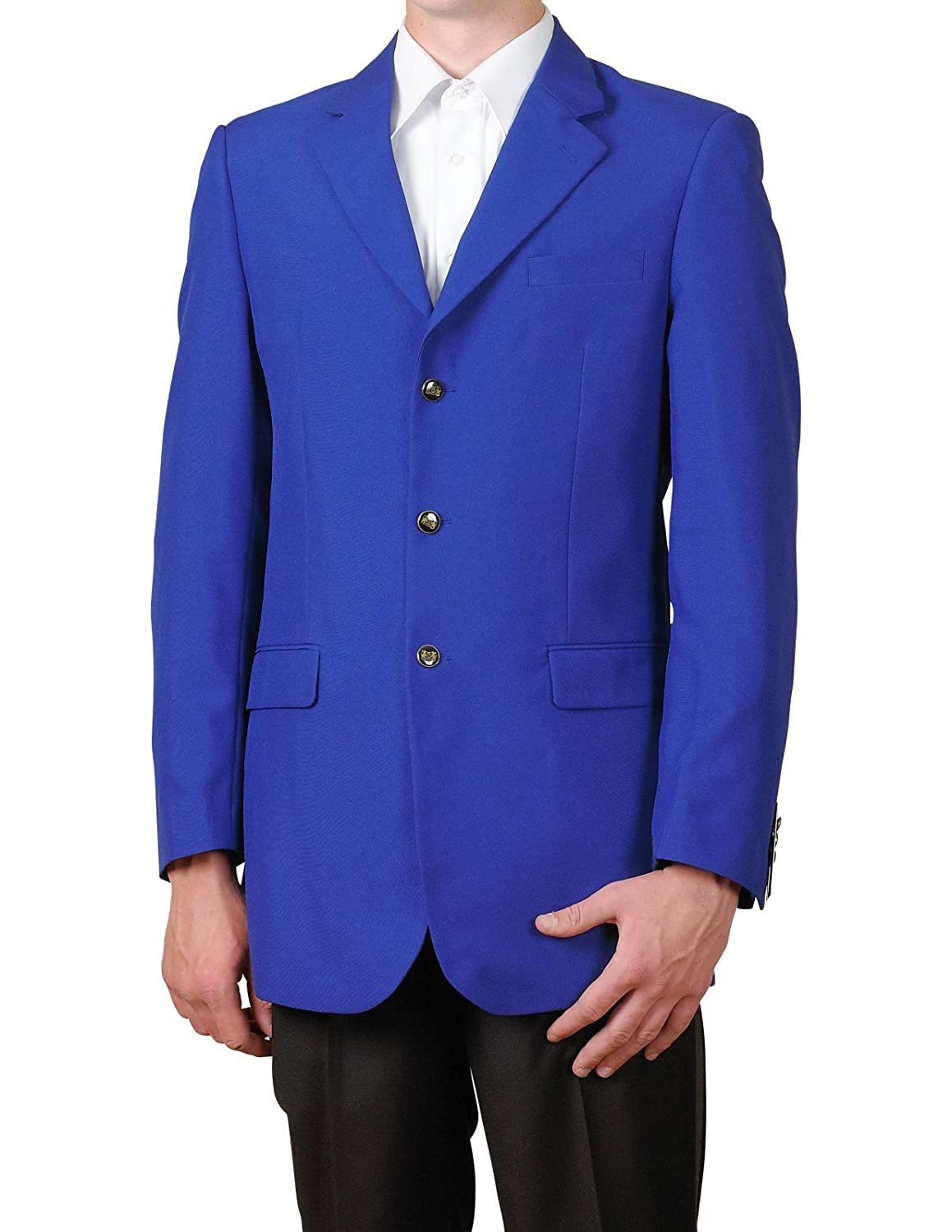 New Mens 3 Button Single Breasted Royal Blue Blazer Sportcoat Suit ...