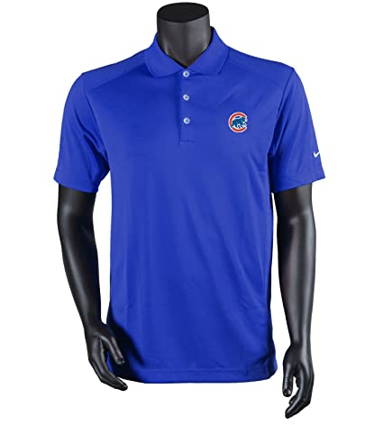 on sale 78394 23289 Amazon.com: Nike Men's Chicago Cubs Dri-Fit Victory Polo ...