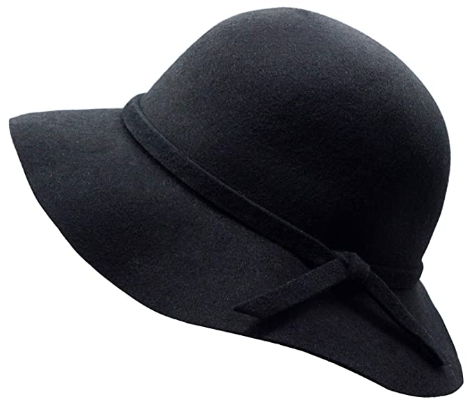 52a8dd8b7ca Amazon.com: Kids Girl's Vintage Dome Wool Felt Bowler Cap Floppy Hat ...