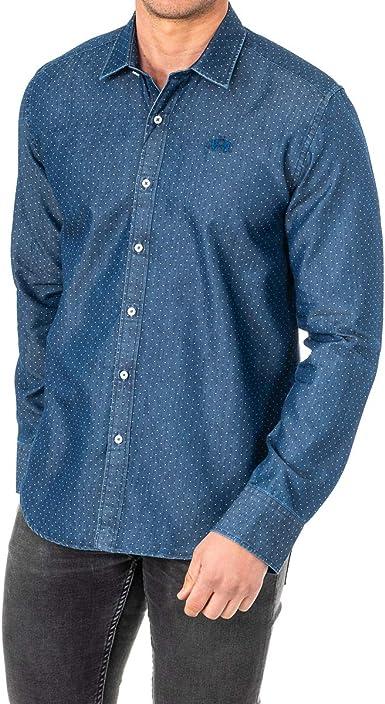 La Martina Man Shirt L/S Denim Jaquard Camisa Vaquera para Hombre: Amazon.es: Ropa y accesorios