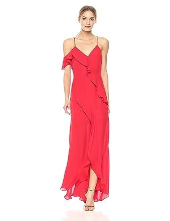 03c19090d9b Amazon.com  Parker Women s Black Emilia Spaghetti Strap Silk Full Length  Dress  Clothing
