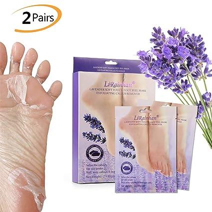 2 pares de calcetines exfoliantes para peeling de pieles, Phogary hidratante de lavanda Peel perfumado