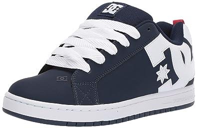 27e43ffe9ca64f DC Shoes Men s Court Graffik Skateboarding Shoe Leather Suede ...
