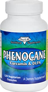 product image for Oxylife Phenocane - Curcumin and DLPA - Relieves Pain - 120 Vegetarian Capsules (Pack of 2)