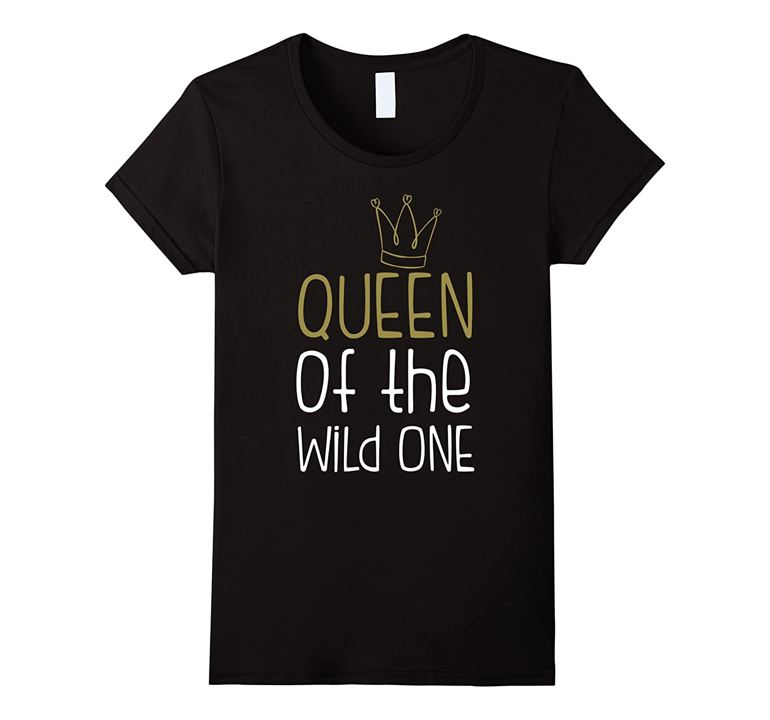 Womens Queen Of The Wild One Funny Family Matching Shirt Set-FL
