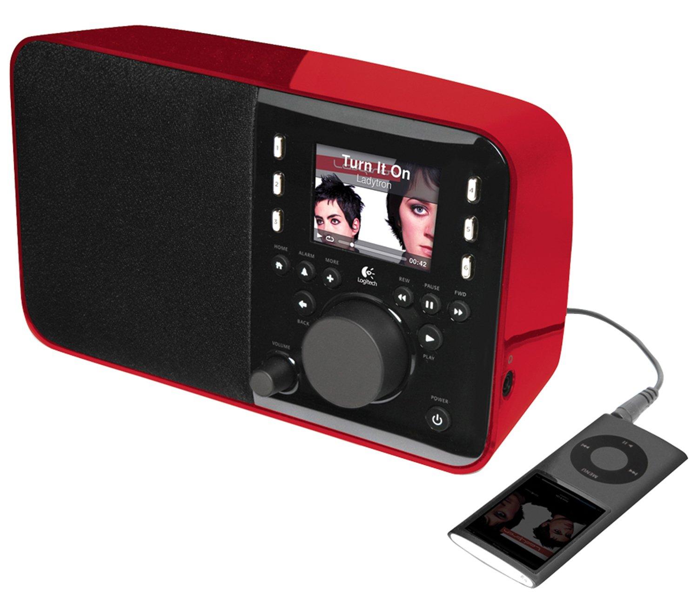 amazon com logitech squeezebox radio music player with color screen rh amazon com Logitech Squeezebox Boom Manual Logitech Internet Radio