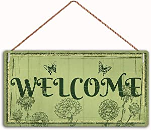 MAIYUAN Welcom Sign Home Decor Wood Sign Plaque 10