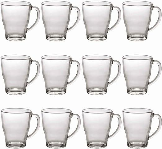 Duralex Juego de Tazas Transparentes para café - Cristal - 350 ml ...
