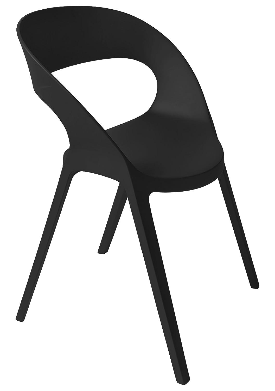 Blanke Design Carla Stuhl, Polypropylen mit Glasfaserverstärkung, Schwarz, 58 x 58 x 80 cm