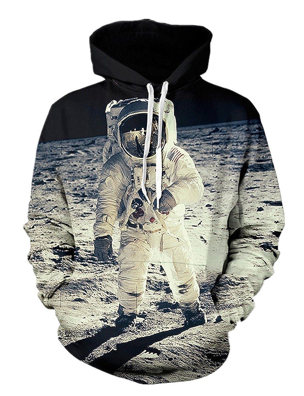 Minetom Damen Herren Mode 3D Digital Bedruckte Kapuzenpullover Unisex Lange Ärmel Pullover Sweatshirt Hoodies Tops