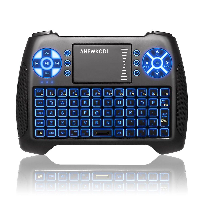 ANEWKODI T Mini Teclado Retroiluminado Teclado Inalámbrico con Touchpad Mini Keyboard de