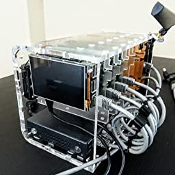 Cluster Case for Raspberry Pi and Other Single Board Computers Black Lime Cloudlet CASE RPi 4B Compatible