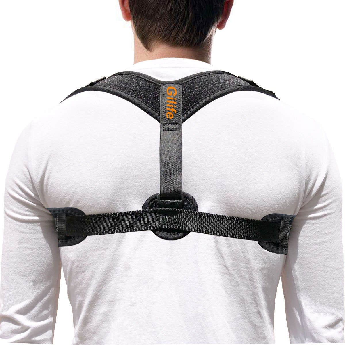 Back Posture Brace for Womens, Mens & Teens - Comfortable and Effective Posture Corrector to Improve Slouching & Hunching - Shoulder Clavicle Support for Pain Relief (Fits 25''-48'' Chest)
