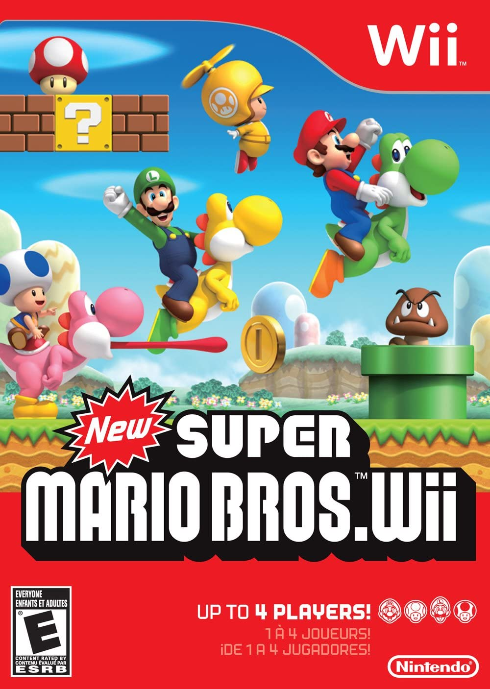 d41637f9fa0 Amazon.com  New Super Mario Bros. Wii  Nintendo Wii  Nintendo of America   Video Games