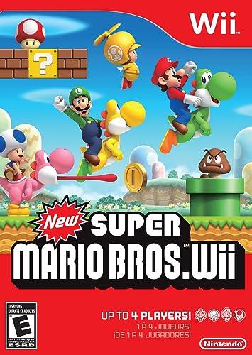 Amazon Com New Super Mario Bros Wii Nintendo Of America Video Games