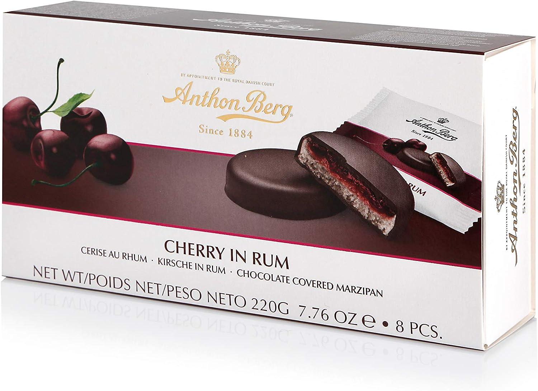 Anthon Berg Cherry en ron mazapanes cubiertos de chocolate ...
