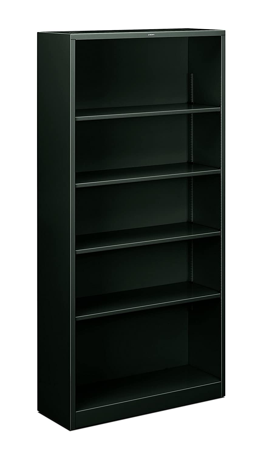 HON Metal Bookcase – Bookcase with Two Shelves, 34-1 2w x 12-5 8d x 41h, Light Gray HHS42ABC