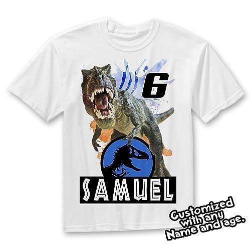 Jurassic World Dinosaurs Custom T Shirt Dinosaur Birthday
