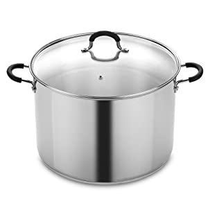Cook N Home NC-00335 Stainless Steel Saucepot with Lid 20-Quart Stockpot Qt, Silver