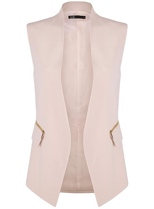 LaoZanA Donna Eleganti Chiffon Ufficio Business Senza Maniche Blazer Tailleur Giacche Cappotto Gilet Panciotto
