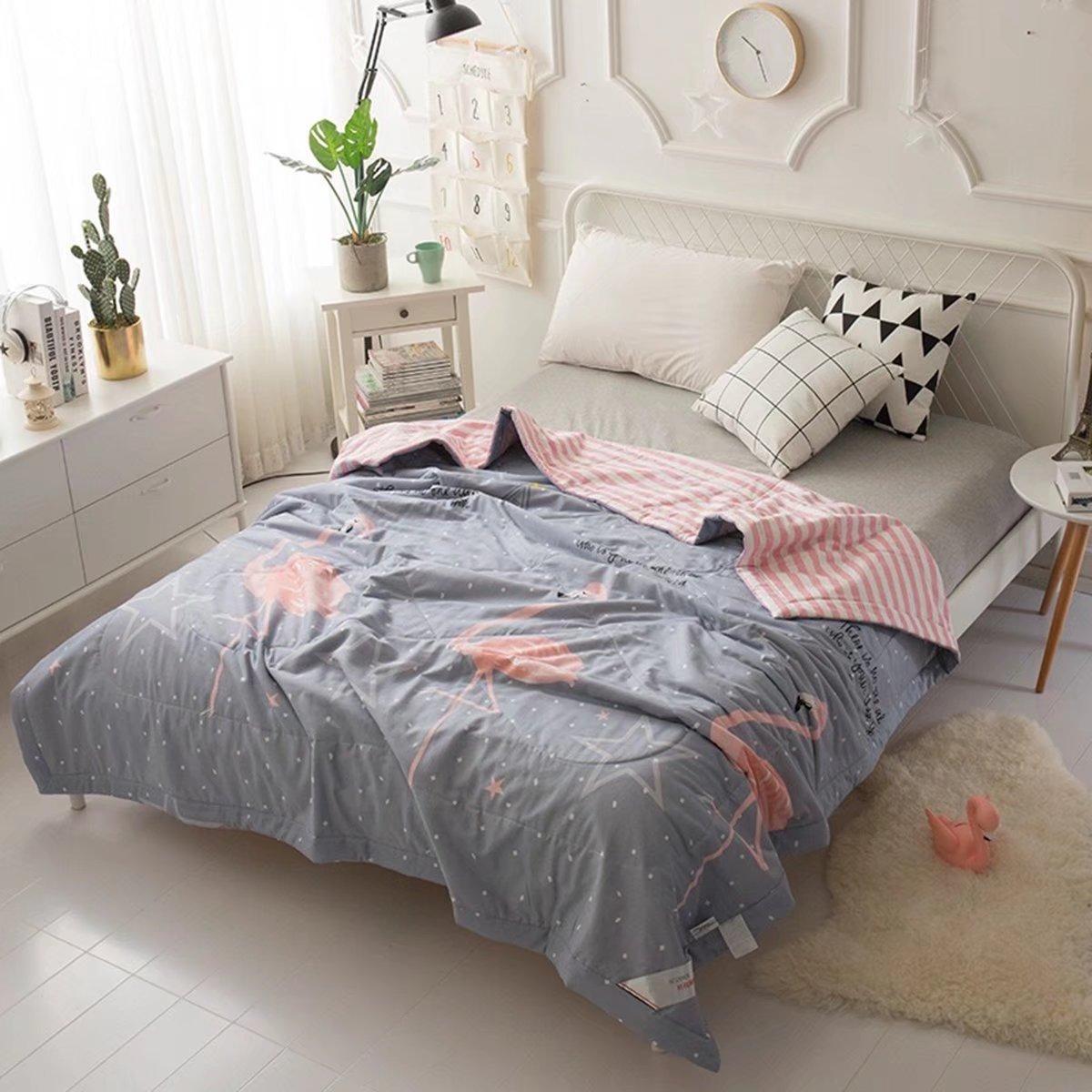ベッドキルト マルチカバー ソファーカバー 北欧 高級カバー キルティング ベッドカバー シングル キルト 綿 おしゃれ かわいい EBODONG B07CQXF9HG180*220cm