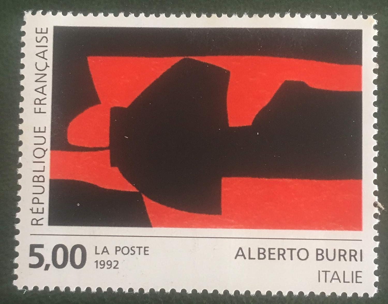 Timbre de Collection Authentique 1992 France Neuf** Gomme intacte Art Peinture de A Burri No 2780 des Livres Express
