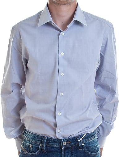 Calvin Klein - Camisa formal - Básico - para hombre azul azul claro 42: Amazon.es: Ropa y accesorios