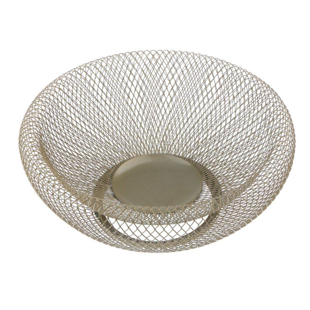 Iron Wire Fruit Bowl Fruit Bread Biscuit Basket Unique Tray Bowl for Kitchen Gold