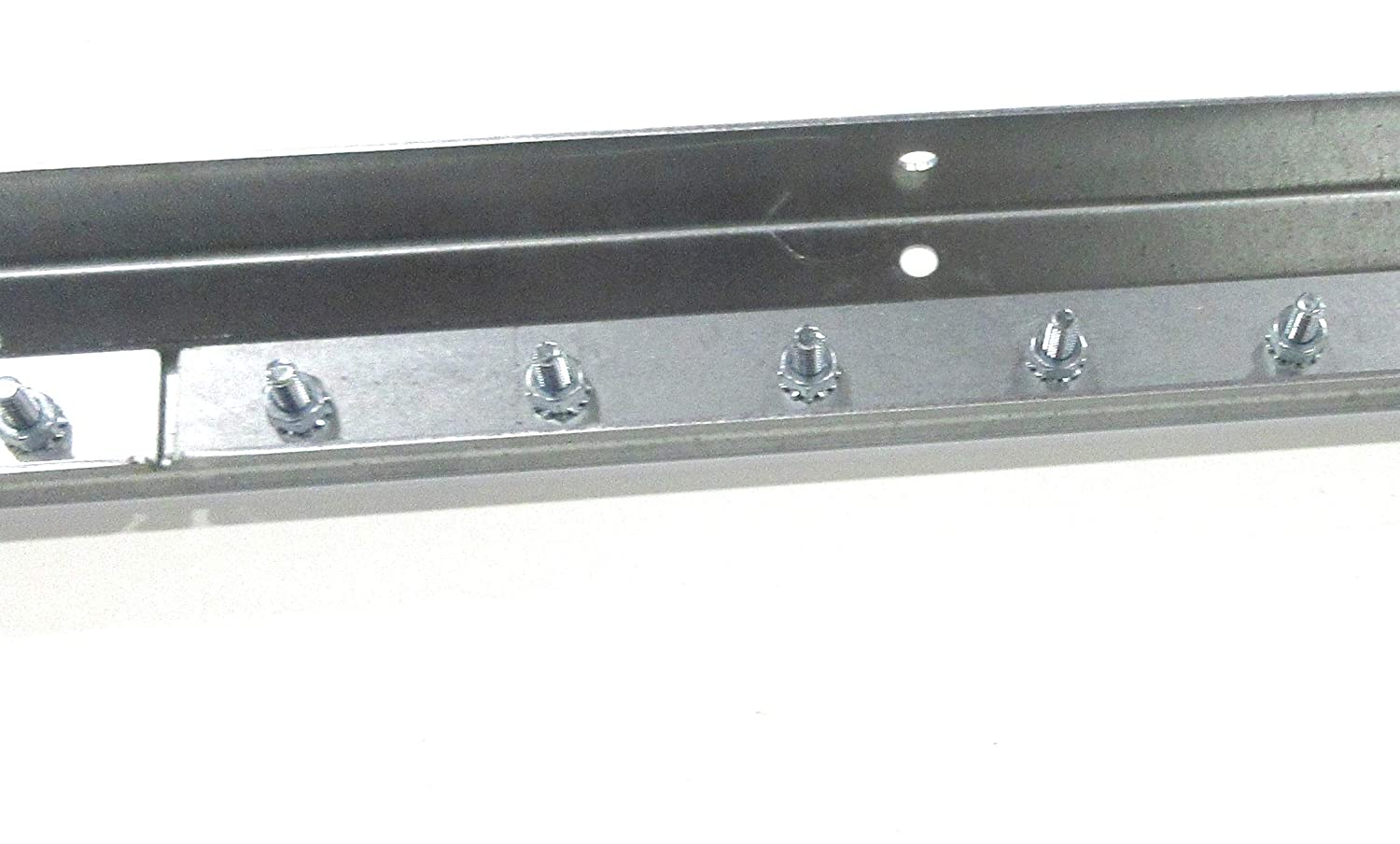 Two 4 Foot Sections Universal Mount Hanger 8 Foot Strip Curtain Hardware