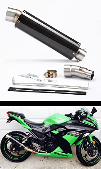 Amazon.com: 2013-2017, Kawasaki Ninja 300, escape de carbono ...