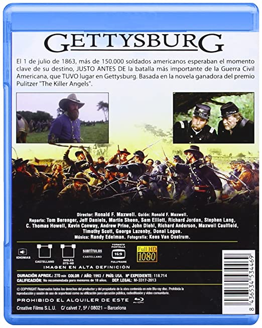 Amazon.com: Gettysburg (Blu-ray) [1993] (Import Movie ...