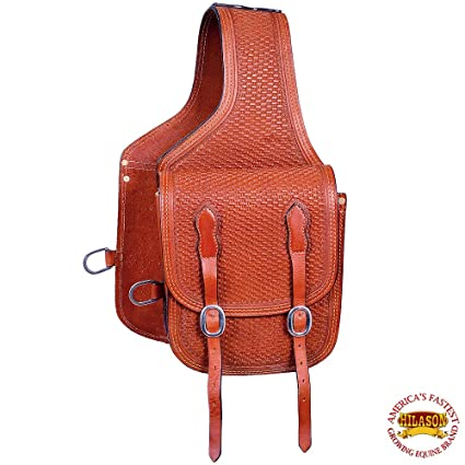 WESTERN TRAIL HORSE OR MOTORCYCLE SADDLE BAGS BAG ROUGHOUT BLACK LEATHER
